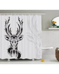 tis the season for savings on antlers decor shower curtain set