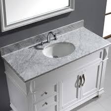48 single sink bathroom vanity virtu usa victoria 48 single bathroom vanity set in white bathtubs
