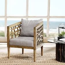 Light Grey Accent Chair Ink Ivy Crackle Accent Chair Ebay