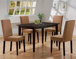 Modern Dark Wood Dining Table Dining Room Exciting Interior Chair Design With Cozy Parsons