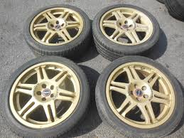 subaru gold jdm parts subaru wrx sti speedline wheels 17x7jj 48 rims gold