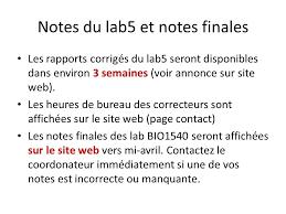 les heures de bureau bio1540 lab 5 méiose ppt télécharger