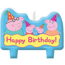 peppa pig birthday candle set 4 walmart com
