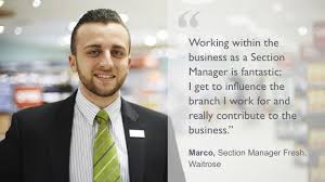 waitrose section manager jobs john lewis partnership careers