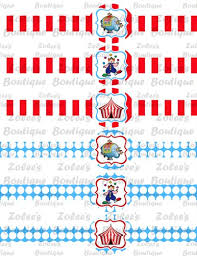 Personalized Party Decorations Printable Diy Personalized Party Supplies Circus Carnival