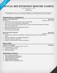 Receptionist Resume Examples by Receptionist Resume Sample Resume Pinterest Receptionist