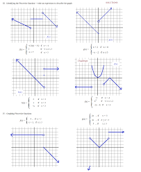math function worksheets math plane piecewise functions f x notation