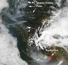 Canada Wildfire Satellite by Rocky Fire U2013 Wildfire Today