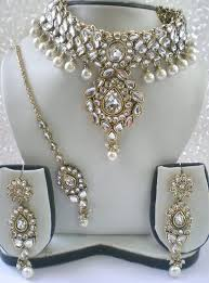 bridal necklace set pearl images Kundan pearl indian bridal jewellery set indian ethnic jewellery jpg