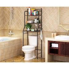 tier toilet bathroom storage rack space saver standing shelf