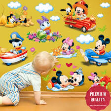 Disney Mickey Mouse  Donald Duck Wall Decal Nursery Wall Decals - Disney wall decals for kids rooms
