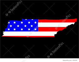 Tennesse Flag State Of Tennessee And American Flag Stock Illustration I1291050