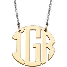 Single Initial Monogram Necklace Buy Personalized Women U0026 39 S Gold Over Sterling Silver Single