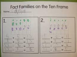 Wemberly Worried Worksheets Mrs T U0027s First Grade Class Ten Frame Fact Families