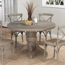 jofran 856 series round dining table in burnt grey 856 48t 48b
