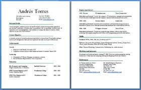 resume for exles 2 2 page resume exles exles of resumes