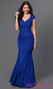 cap sleeve long lace dress homecoming dress promgirl