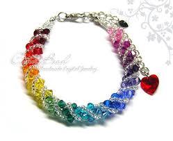 crystal bracelet swarovski images Rainbow bracelet crystal bracelet swarovski bracelet glass etsy jpg