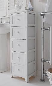 Slim Bathroom Furniture Slim Bathroom Storage Cabinet A Crisp White Freestanding Cottage