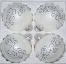4 pcs glass balls set 3 93 inches ø in high gloss