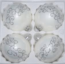 4 pcs glass balls set 3 93 inches ø in high gloss