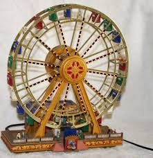 mr christmas u0027 worlds fair ferris wheel turns plays 15 carols plus
