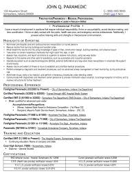 37 Good Resume Objectives Examples by Emt Resume Objective 12208