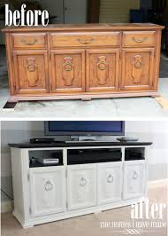 how to transform a dresser to a media stand tutorial dresser