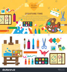 Creative Design Ideas by Creative Set Artist Ideas Creativity Design Stock Vector 256739605