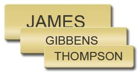 gold name tag bright gold name tag