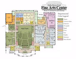 college floor plans hallie brown ford fine arts center technical information east