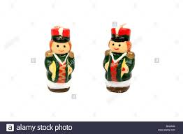 little drummer boys christmas decorations against a white
