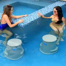 Hidden Patio Pool Cost by Amazon Com Pool Seat Swim Up Bar Stool Liquidseat Sandstone