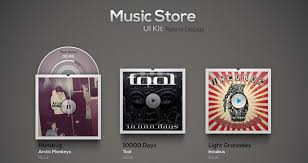 photo album store psd store ui kit mobile apps pixeden