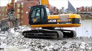 bagger excavator jcb js260nc youtube