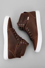 otw vans alomar chocolate brown hi top the sporting gent