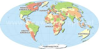 world map image with country names and capitals what is the only country in the world that has a national capital