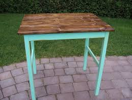 shabby chic table with distressed antique finish by meloyellow