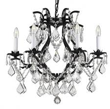 Plug In Crystal Chandelier Fabulous Iron And Crystal Chandelier Wrought Iron Crystal With