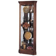 Antique Curio Cabinet With Clock Amazon Com Howard Miller 680 483 Drake Curio Cabinet By Kitchen