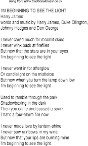 Light In Your Eyes Lyrics Top Songs 1945 Music Charts Lyrics For Im Beginning To See The Light
