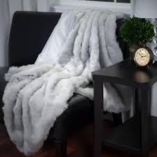 Faux Fur Bed Throw Blankets Bedding The Home Depot