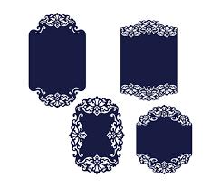 big set cricut wedding invitation template gate fold card diy