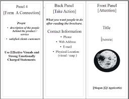 6 panel brochure template aida for brochures pines media