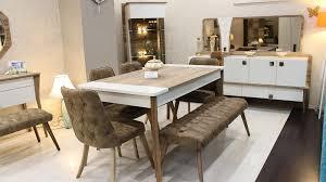 yemek masasi atlantis yemek masası sandalye bench berke mobilya
