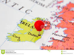 Europe Map Capitals by Red Pushpin On Map Of Ireland Royalty Free Stock Photography