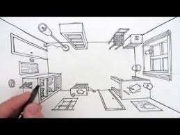 how to draw a room in one point perspective a bird u0027s eye view