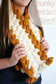 braided scarf chunky braided scarf girl glam