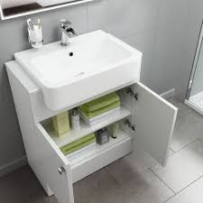 660mm harper gloss white floor standing basin vanity unit soak com