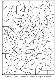 for adults free printable color by number coloring pages for adults color